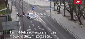 Wypadek w Goleniowie. Rowerzysta nawet nie spojrzał
