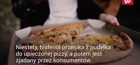 Groźne chemikalia w pudełkach do pizzy
