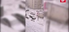 Niespodziewany atak zimy. Burza i śnieżyca nad Warszawą