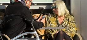 Wiosenna Maria Sadowska na rowerach i lunchu z mężem