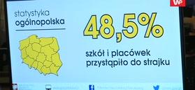 Strajk nauczycieli. Według MEN do protestu przystąpiło 48,5 proc. szkół