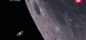 Kosmiczna okultacja. Niezwykłe zdjęcie Księżyca i Saturna