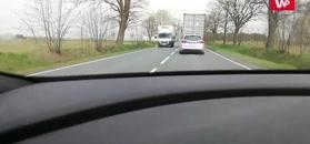 Kierowca wybrał bardzo zły moment na wyprzedzanie