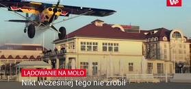 Lądowanie na molo w Sopocie. Pilot musiał idealnie wcelować