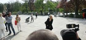 Jessica Mercedes pokazała bieliznę paparazzi.