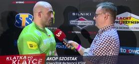 KSW 49. Akop Szostak zaskoczony zachowaniem rywala.