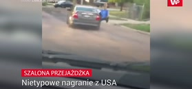 Szalona jazda. Nietypowe nagranie z USA
