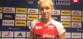 Liga Narodów kobiet. Agnieszka Kąkolewska znalazła pozytyw po meczu z Włochami