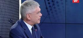 Stanisław Karczewski naigrywa się z Kwaśniewskiego. Przez okrzyki w stoczni