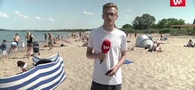 Upały ogarnęły Polskę. Pierwsi turyści ruszyli nad morze