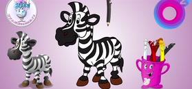 MINI BAMBINI w o2: kolorowanka zebra