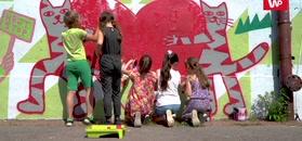 Walczą z hejtem. Mural połączył dzieci i artystów