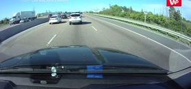 Wypadek na autostradzie.