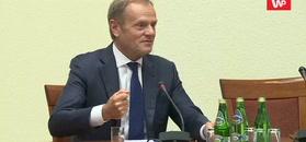 Komisja ds. VAT. Donald Tusk odpowiada na pytania dotyczące Kaczyńskiego i Morawieckiego