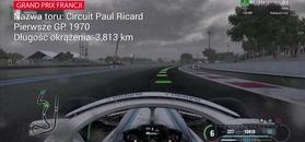 Formuła 1: Tak wygląda jedno okrążenie toru we Francji. Wyścig już dziś!