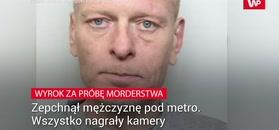 Zepchnął mężczyznę pod metro. Wszystko nagrały kamery