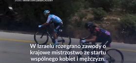 #dziejesiewsporcie: Niecodzienne wydarzenie w wyścigu kolarskim
