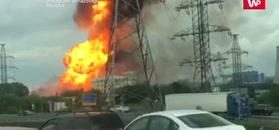 Potężny pożar w Moskwie