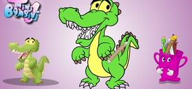 MINI BAMBINI TV w o2: krokodyl do pokolorowania