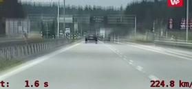 Pędził autostradą. Nagranie policji