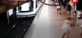 Prosto pod pociąg. Przerażające nagranie z metra