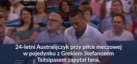 #dziejesiewsporcie: Kyrgios zaskoczył podczas meczu
