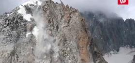 Nawet góry mają dość. Wstrząsające nagranie z Alp