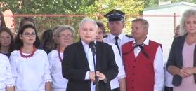 Jarosław Kaczyński w Zbuczynie. Grzmiał: