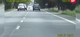 Wariat na drodze. Nagranie policji ku przestrodze